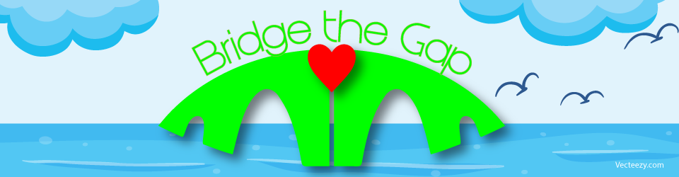 [neon green bridge and text with red heart in center]
