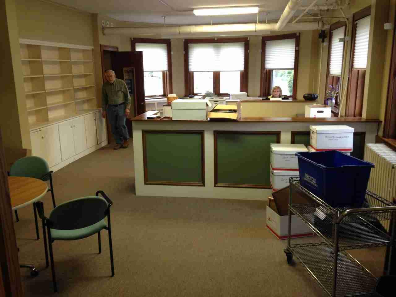 Main office getting emptier