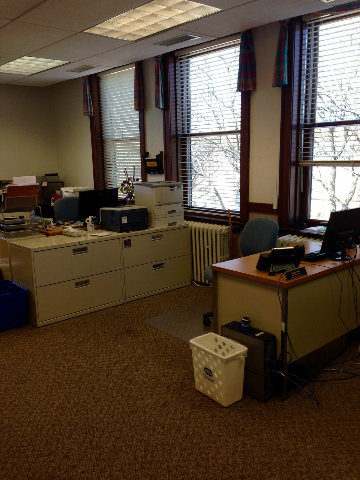 Our new digs – day 3: admin and treasurer desks