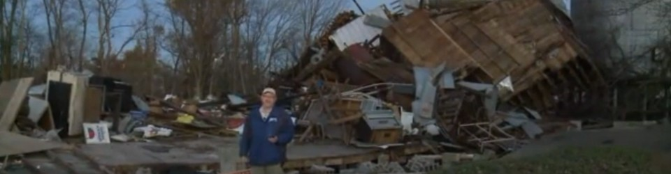 [post tornado devastation in Brookport, IL]